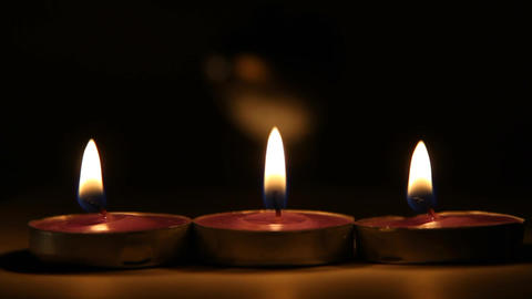 Candles stock footage