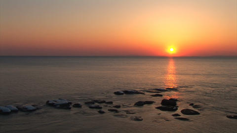 sea sunset timelaps Stock Video Footage