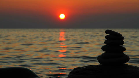 Zen stones Stock Video Footage