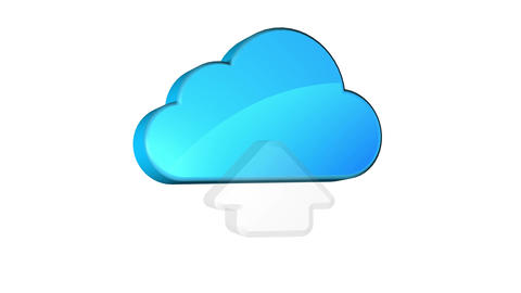 Cloud Upload Stock Video Footage