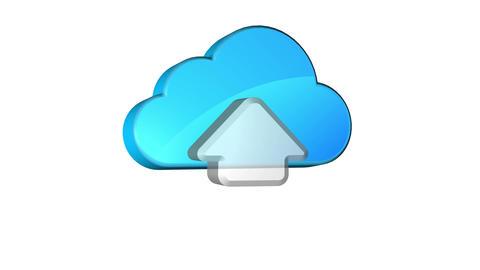 Cloud Upload Stock Video Footage