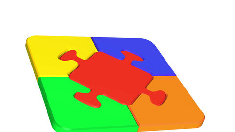 Puzzles Stock Video Footage