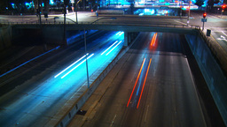 Freeway Overpass Time-lapse Stock Video Footage