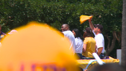 20100621 LAKERS MAGIC 01 Stock Video Footage