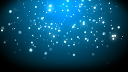 Rain stars christmas with background blue Animation