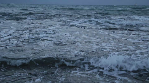 Troubled waters Dark sea#2 Stock Video Footage