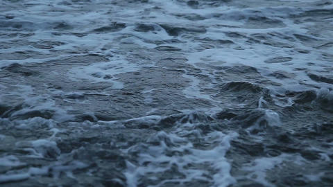 Troubled waters Dark sea#4 Stock Video Footage
