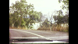 Travelling Along Coastal Road in Queenslad (1983 8mm Film... Stock Video Footage