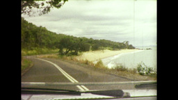 Travelling Along Coastal Road In Queenslad (1983 8mm Film Footage) stock footage