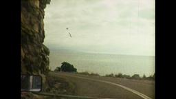 Travelling Along Coastal Road in Queenslad (1983 8mm Film... Stock Video Footage
