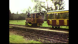 Balley Hooley Steam Train Engine (1983 8mm Vintage Film Footage) stock footage
