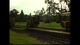 Balley Hooley Steam Train Engine (1983 8mm Vintage Film... Stock Video Footage