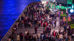 People walking by the Sea Stock Video Footage