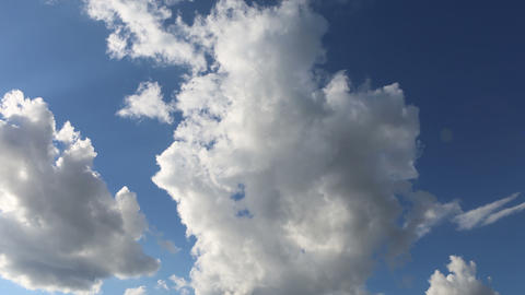 beautiful running clouds Stock Video Footage