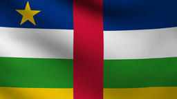 Central   African   Republic  Flag stock footage