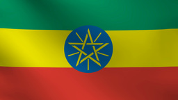 Ethiopia flag Animation