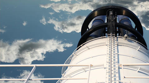 chimney on blue sky Stock Video Footage