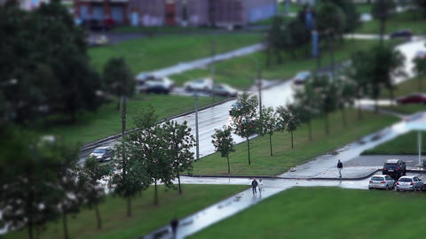 Road Tilt Shift Stock Video Footage