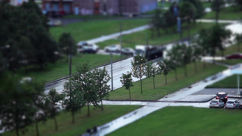 Road Tilt Shift stock footage