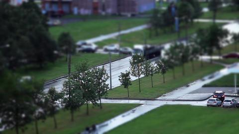 Road Tilt Shift Footage
