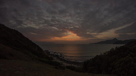 Sunrise on a Cloudy Morning Stock Video Footage
