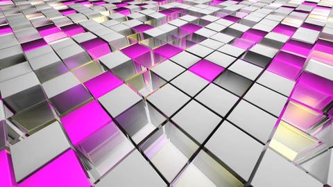 Cube Spining stock footage