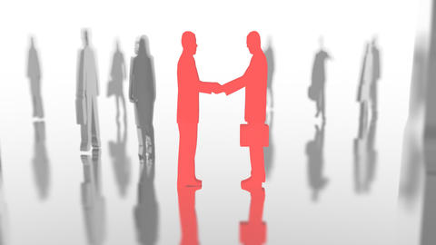 Partners Image, Shake A Hand stock footage