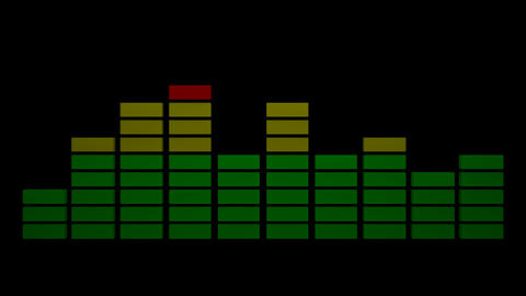 3d audio equalizer Stock Video Footage