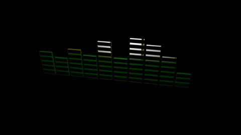 3d graphic equalizer Stock Video Footage