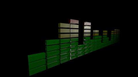3d audio level Stock Video Footage