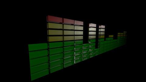 3d audio level Animation