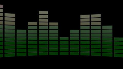 3d audio graphic level Animation