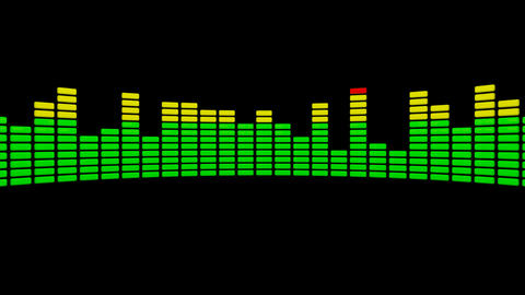 3d audio level equalizer Stock Video Footage