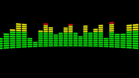 3d audio level equalizer Animation