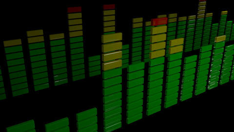3d stereo audio equalizer Stock Video Footage