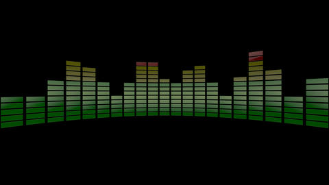 3d audio stripe meter Stock Video Footage