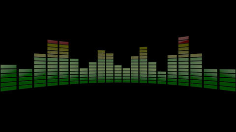 3d audio stripe meter Animation