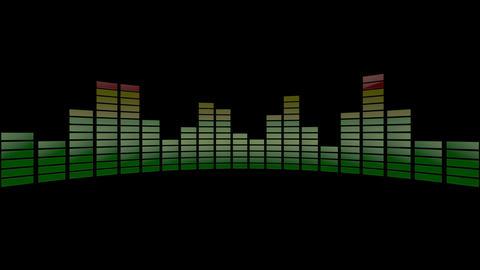 3d audio stripe meter Animation