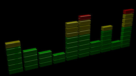 3d sound level equalizer Animation