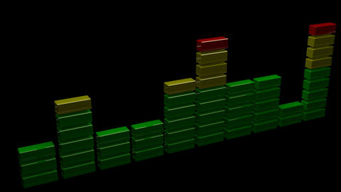 3d sound level equalizer Stock Video Footage