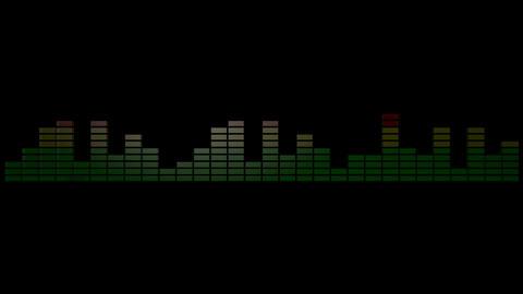 3d audio graphic meter Stock Video Footage