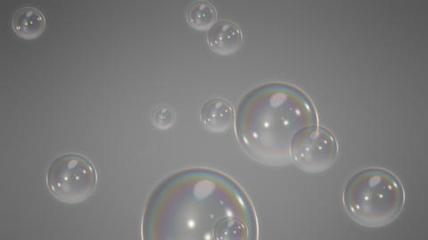 Loopable Soap Bubbles Gray Animation