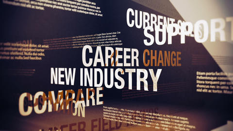 Career Change Issues and Related Words Stock Video Footage