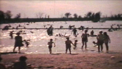 Kids Playing At The Beach 1966 Vintage 8mm film Footage