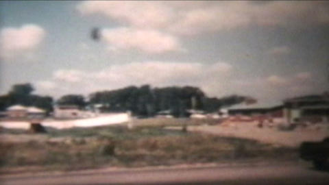 Old Truck Passes By 1960 Vintage 8mm film Stock Video Footage