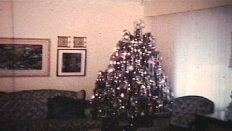 Christmas Time 1977 Vintage 8mm Film stock footage