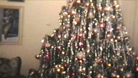 Christmas Time 1977 Vintage 8mm film Stock Video Footage
