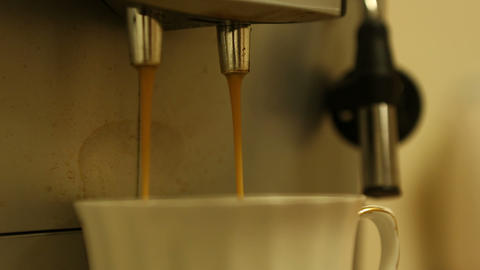 coffee machine 02 Stock Video Footage
