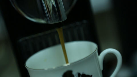 coffee machine 08 Stock Video Footage