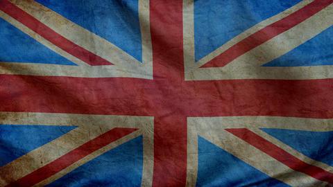Brit flag-old-2016 CG動画素材